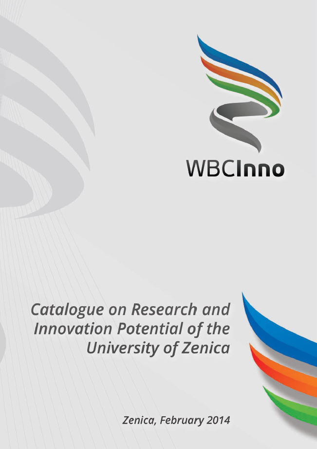Catalogue on Research and Innovation Potential of the University of Zenica