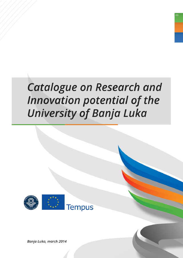 Catalogue on Research and Innovation Potential of the University of Banja Luka